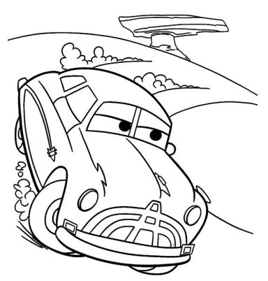 The Doc Hudson Coloring Page