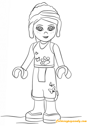 Mia Lego Friends Coloring Page Free Coloring Pages Online