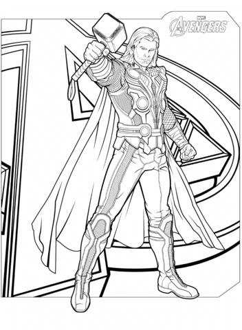 Avengers Thor with Hammer Mjolnir