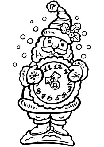 Santa with a Clock
