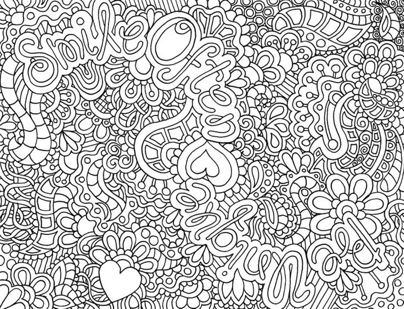 Complex Pattern Coloring Page
