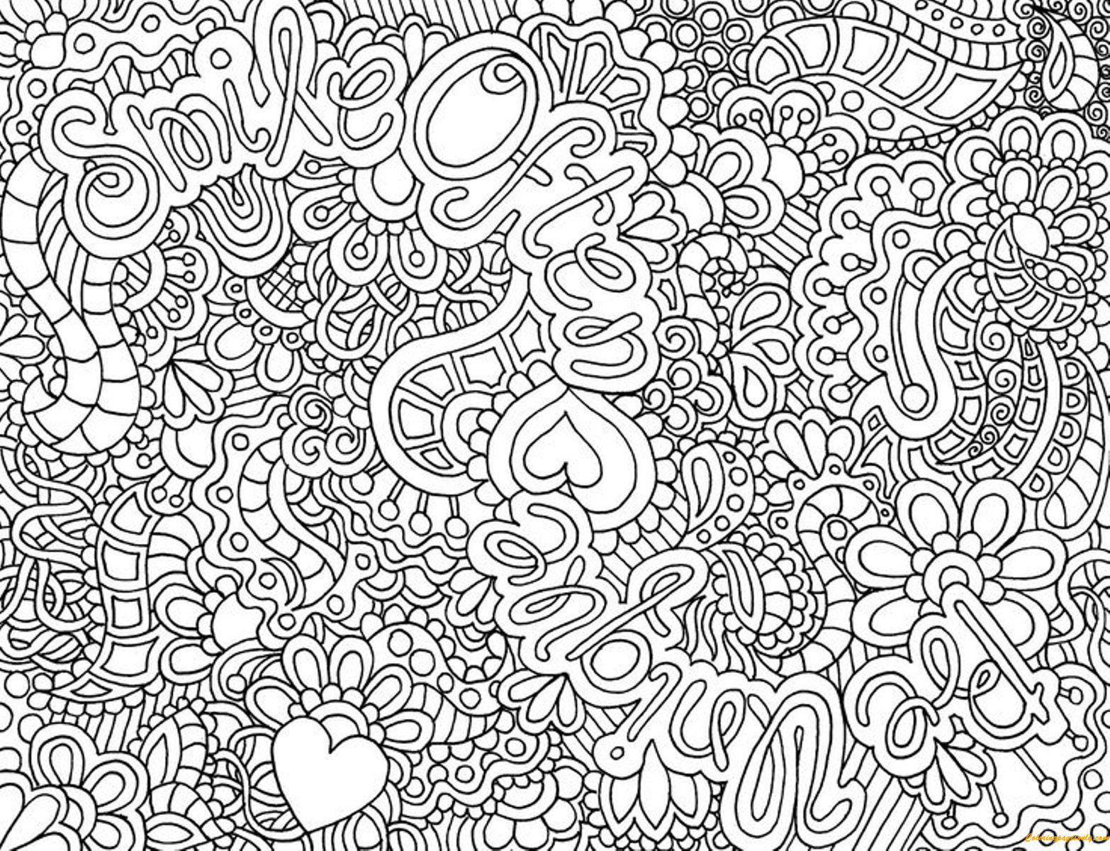 Free coloring pages complex - Complex Pattern Coloring Page