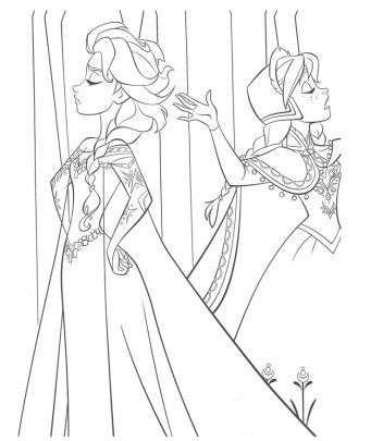 Anna And Elsa Having A Disagreement