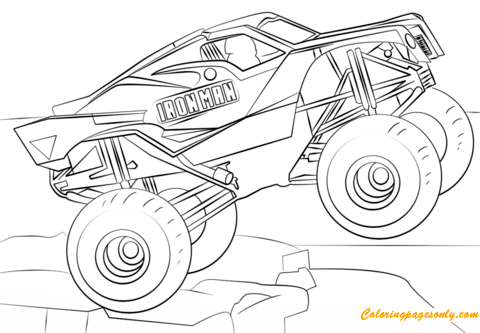 Iron Man Monster Truck Coloring Page - Free Coloring Pages ...