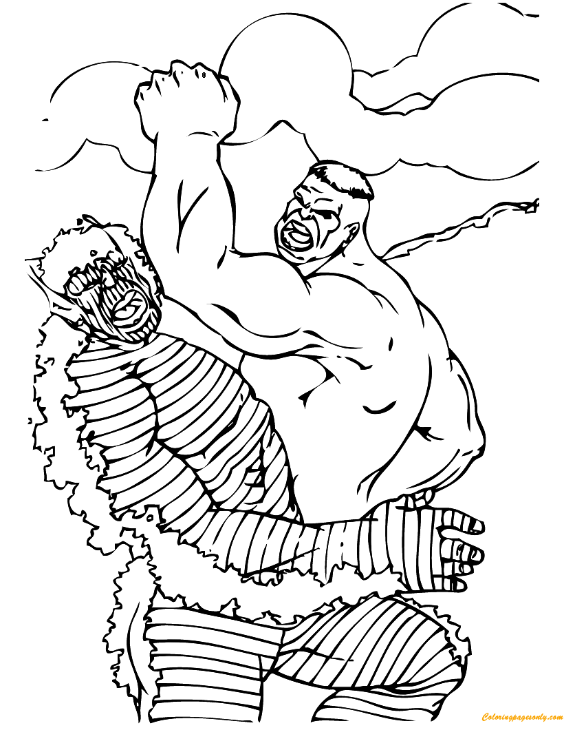 Hulk Vs Abomination Coloring Page Free Coloring Pages Online