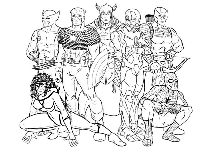 Avengers Age Of Ultron Coloring Page