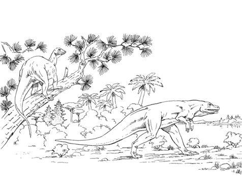 Megalosaurus And Hypsilophodon
