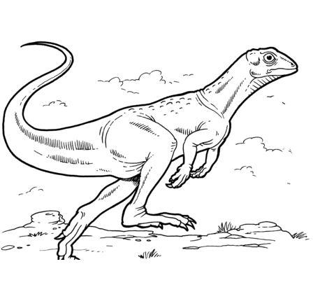 Lesothosaurus Coloring Page