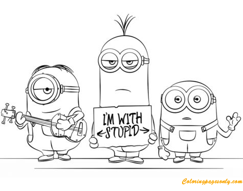 Minions From Despicable Me 3 Coloring Pages - Cartoons Coloring Pages -  Free Printable Coloring Pages Online