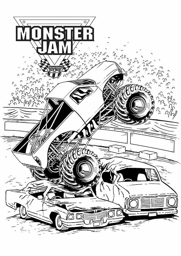 Cool Monster Truck Coloring Page Free Coloring Pages Online