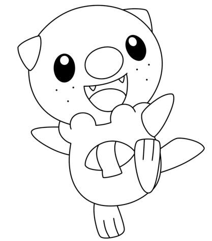 Adult Pokemon Coloring Page Free