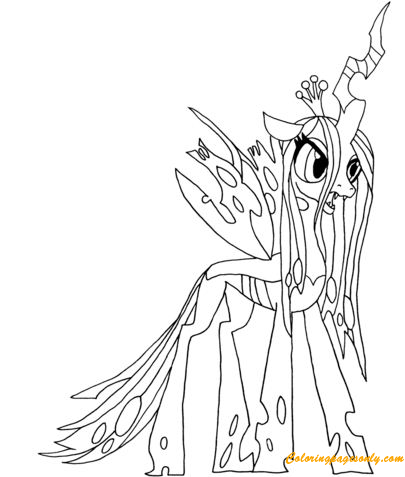 My Little Pony Queen Chrysalis Coloring Page Free Coloring Pages