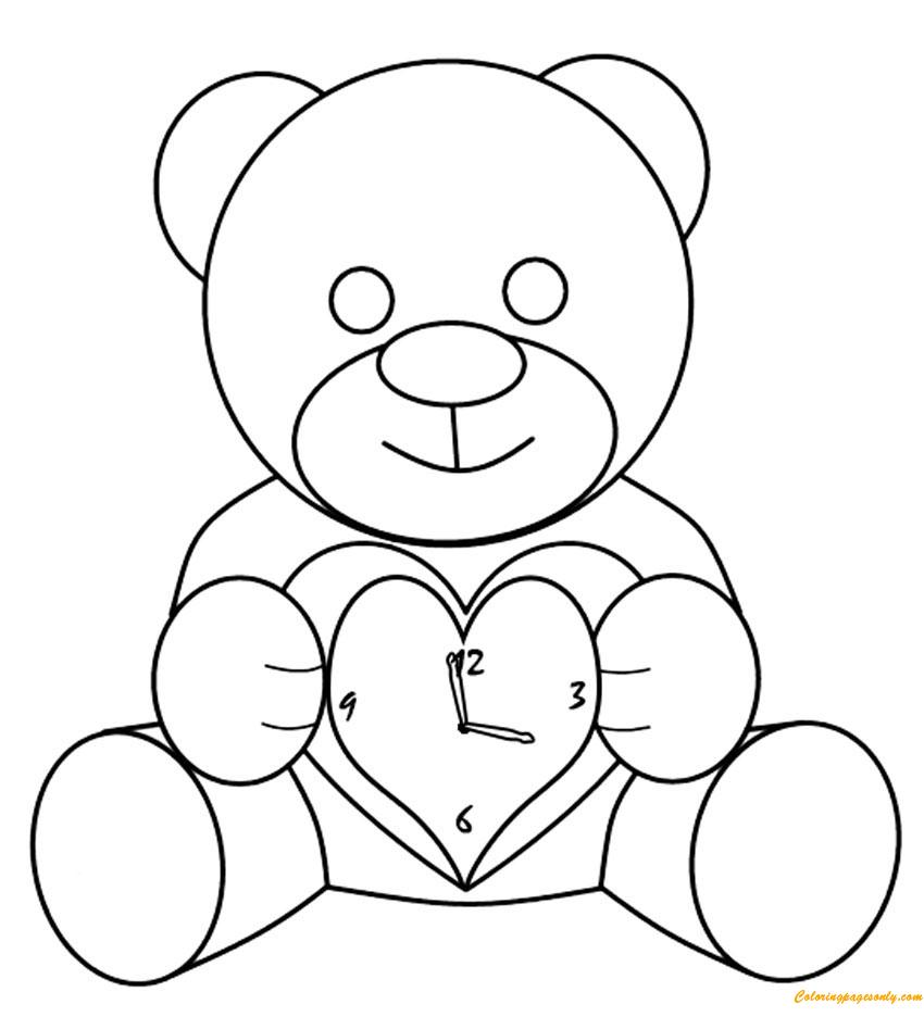 правило, нарисовать рисунок мишки карандашом первых дней