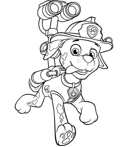Paw Patrol Marshall With Water Cannon