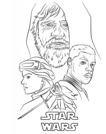 The Force Awakens Poster Coloring Page