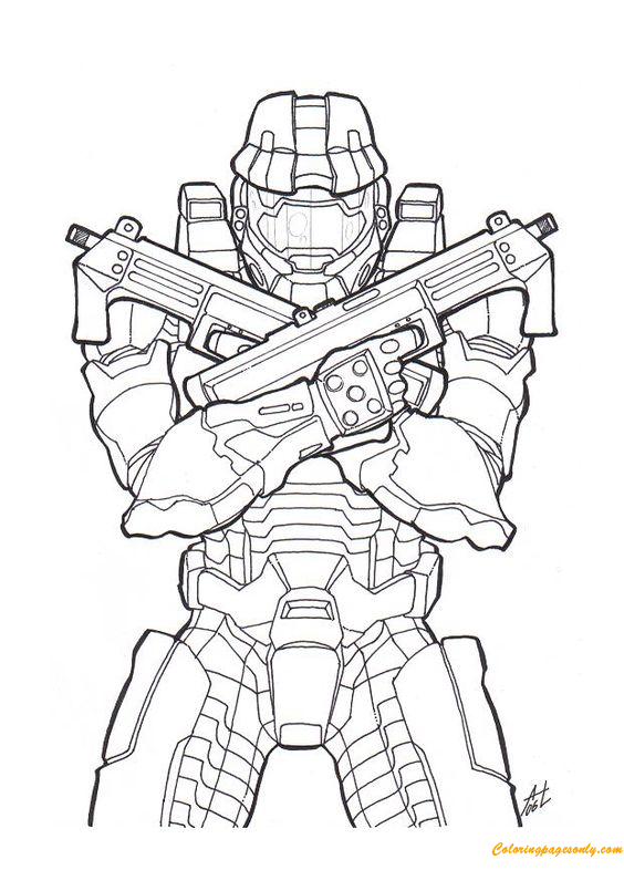 Halo Master Chief Coloring Page - Free Coloring Pages Online