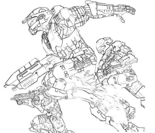 Halo 3 ODST Coloring Page