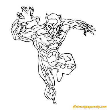 Black Panther From Avengers Coloring Page Free Coloring