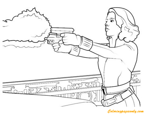 Black Widow From Avengers Coloring Page Free Coloring