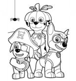 Paw Patrol Halloween Party Coloring Page