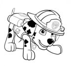 Paw Patrol Marshall Puppy Coloring Page