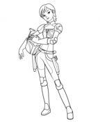 Star Wars Rebel Sabine Wren Coloring Page