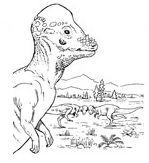 Pachycephalosaurus Dinosaur Coloring Page