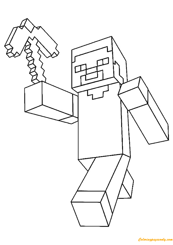 Printable Minecraft Enderman coloring pages. | Minecraft coloring ... | 842x595