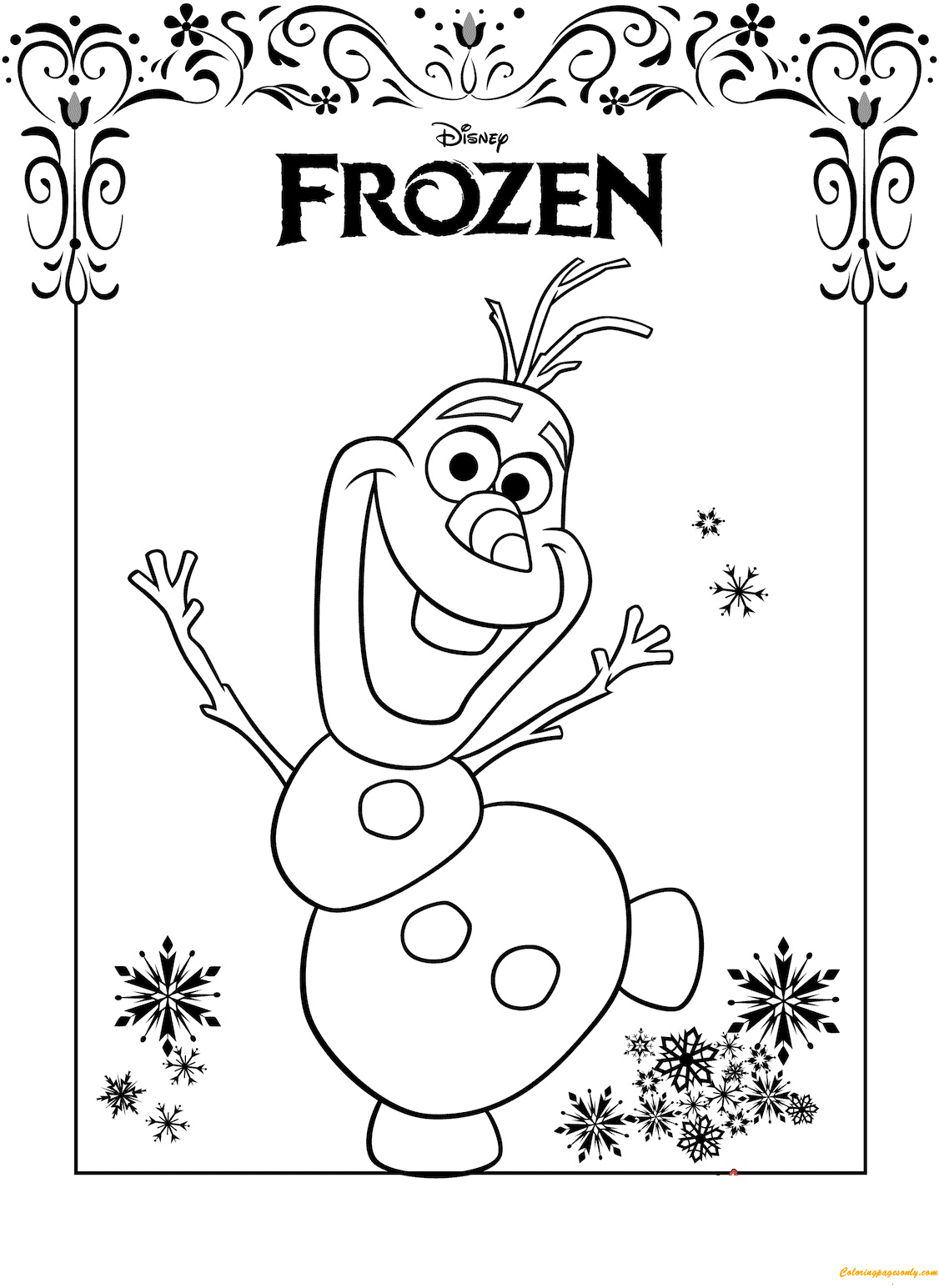 frozen 2 print coloring pages - photo#25
