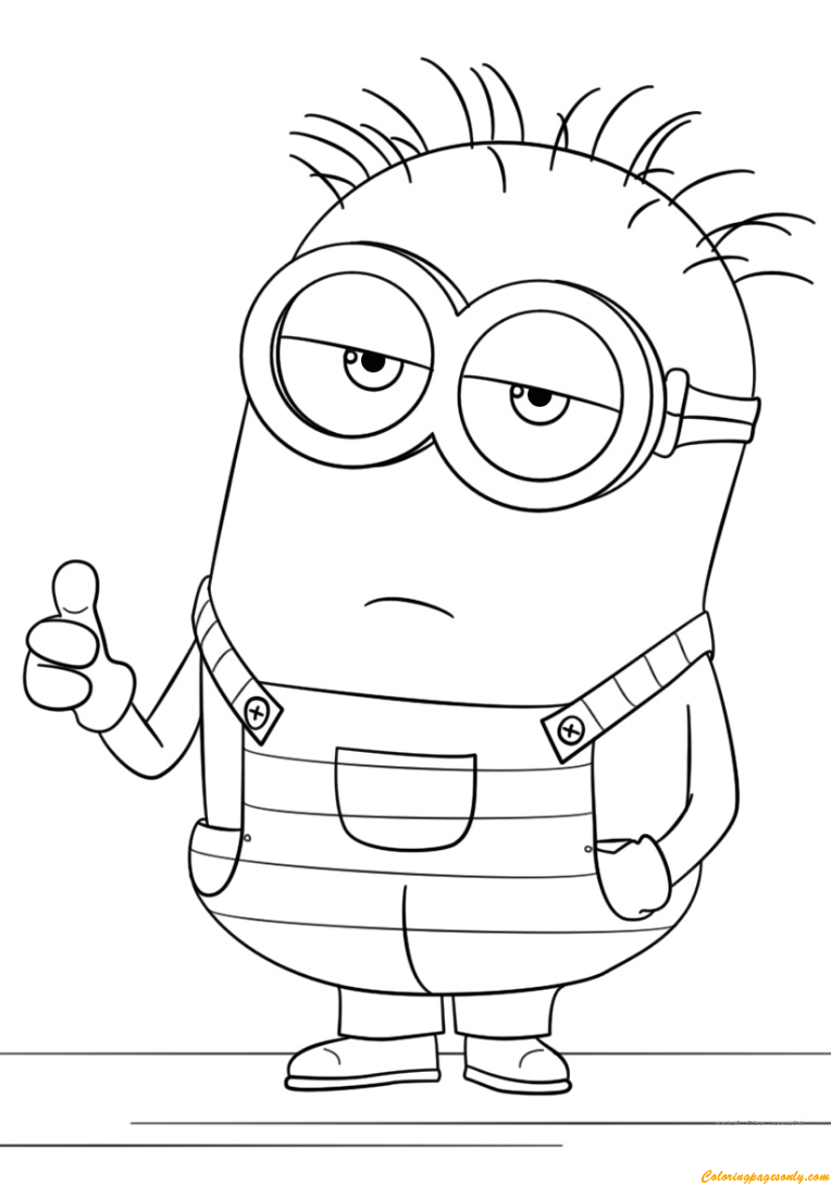 Minion From Despicable Me 3 Coloring Page