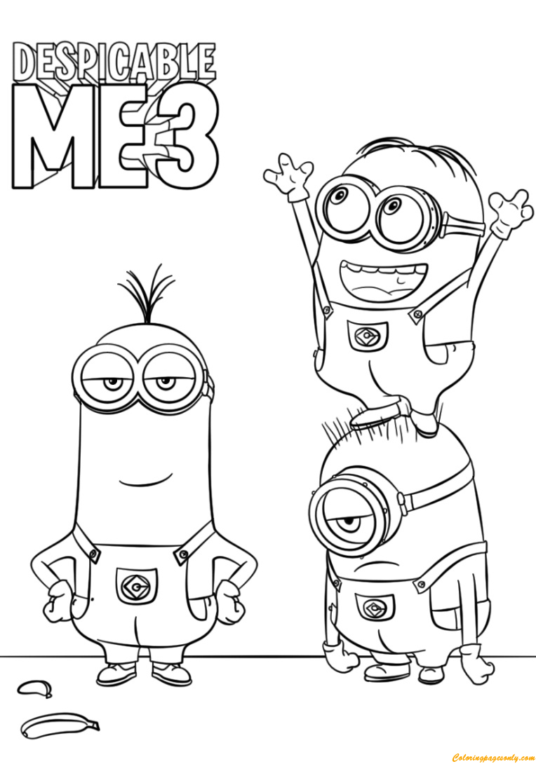 Despicable Me 3 coloring and activity sheets - Free Printables ... | 1100x764