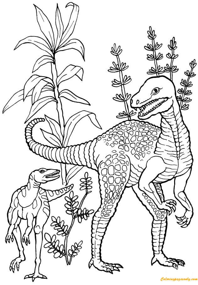 Herrerasaurus Dinosaur Coloring