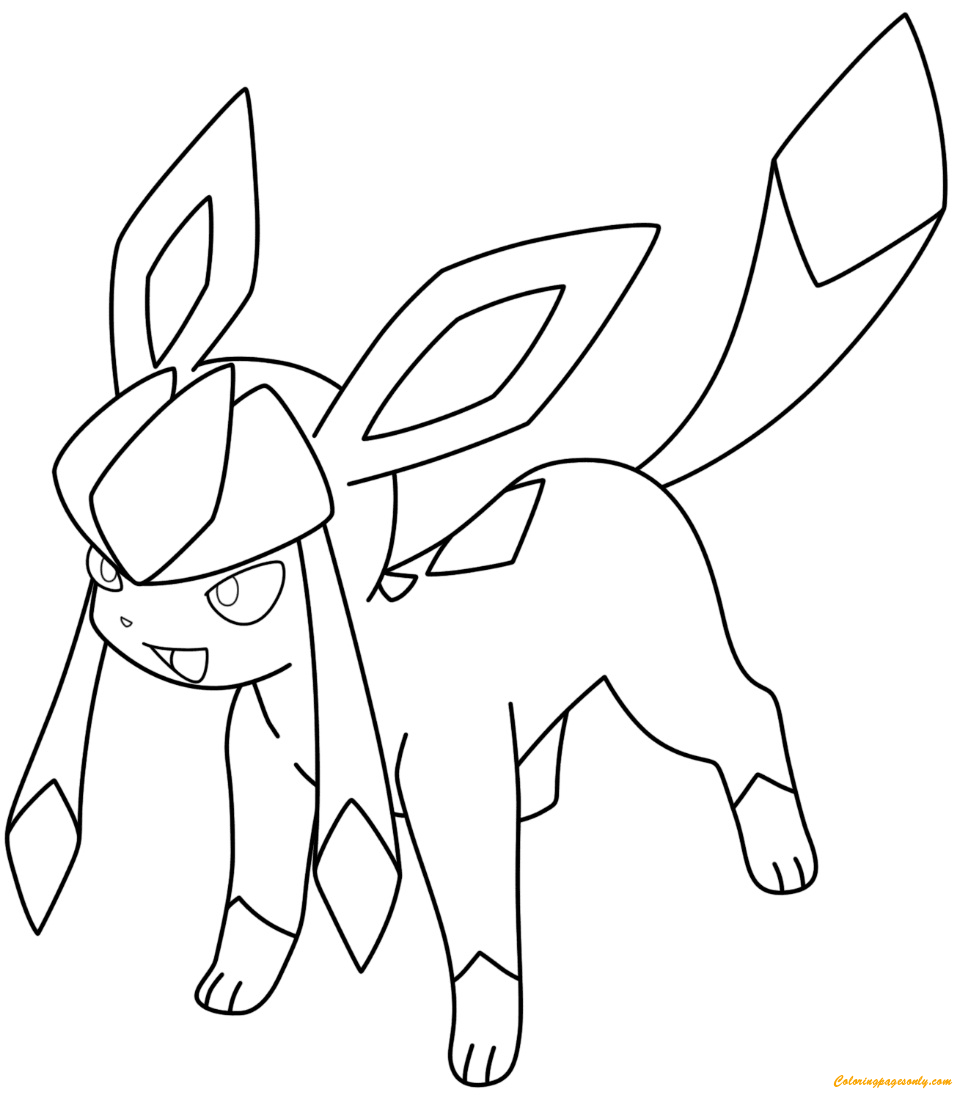 Glaceon Pokemon Coloring Page - Free Coloring Pages Online