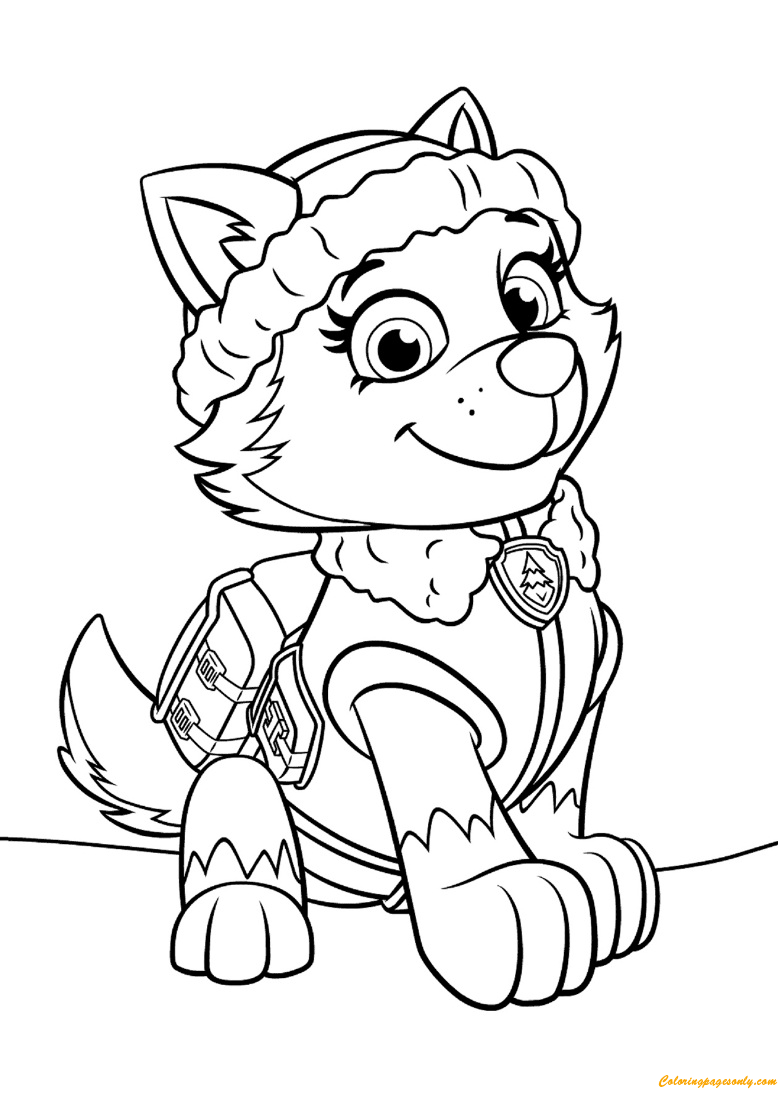 Paw Patrol Everest Coloring Page Free Coloring Pages Online
