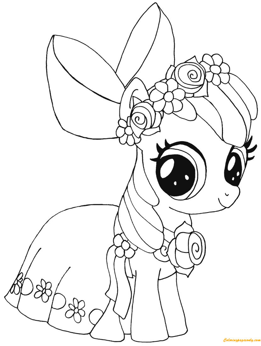 My Little Pony Apple Bloom Coloring Page - Free Coloring ...