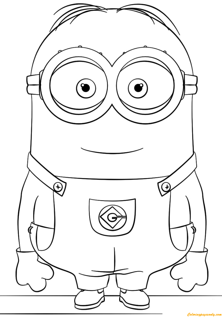 Dave from Minion Coloring Page