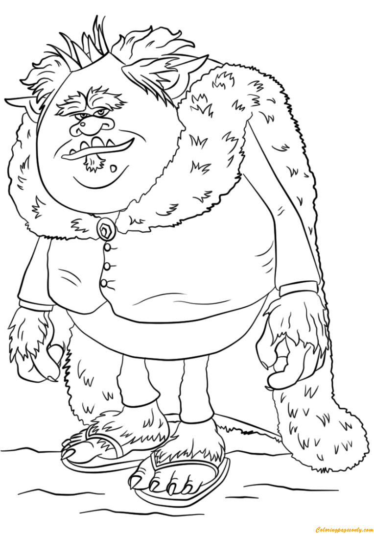 King Gristle From Trolls Coloring