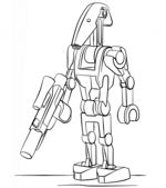 Lego Battle Droid Coloring Page