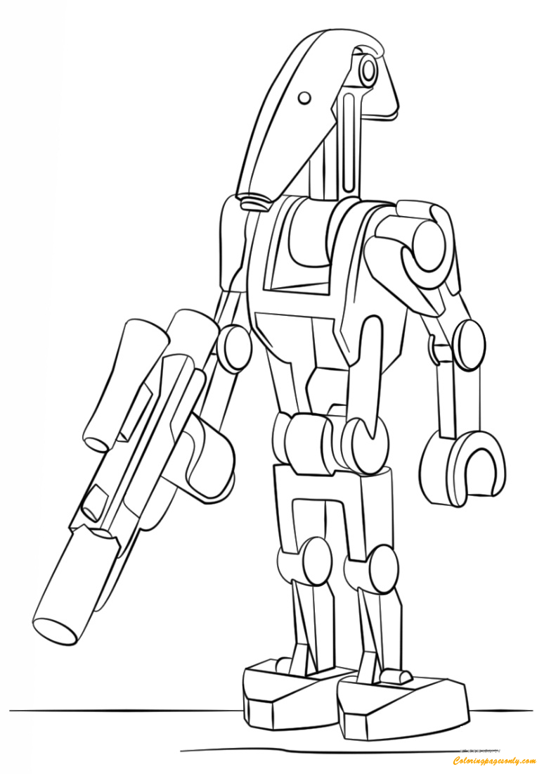 Lego Battle Droid Coloring Page - Free Coloring Pages Online