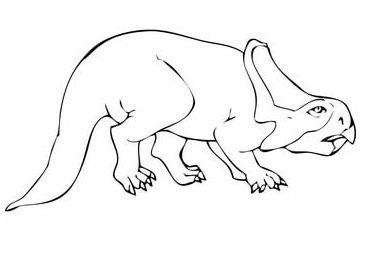Protoceratops Dinosaur Coloring Page
