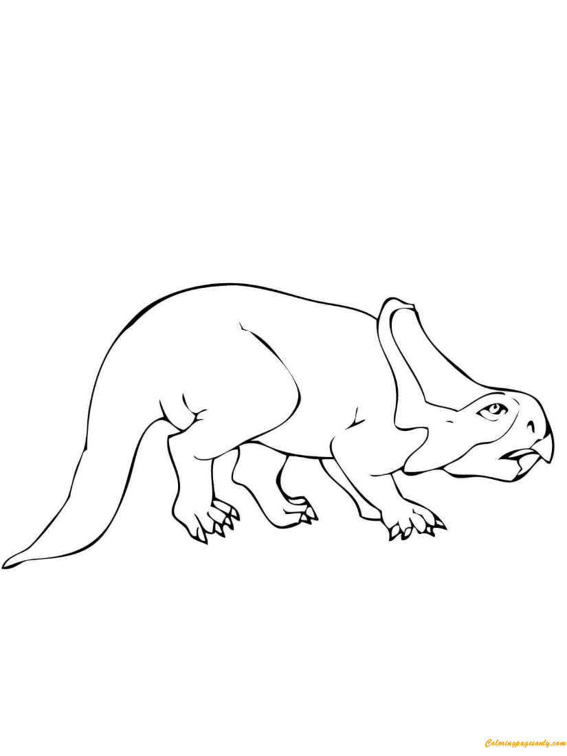 Protoceratops Dinosaur Coloring Page