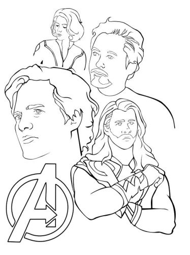 The Core Avengers Coloring Page