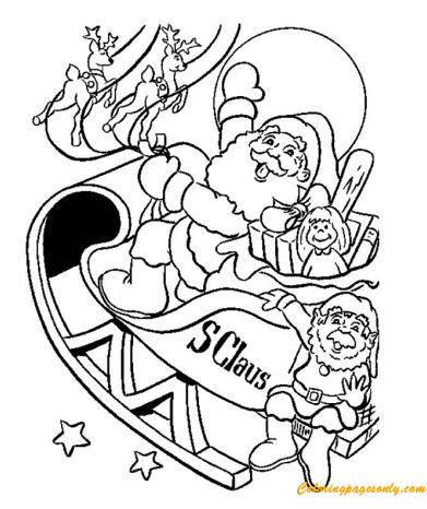 The Christmas Sleigh Coloring Page