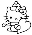 Hello Kitty With Valentine's Day Heart