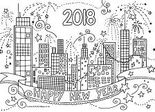 Happy New Year 2018 Coloring Page Free Coloring Pages Online