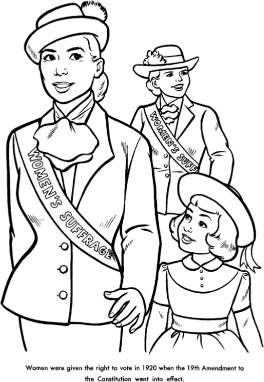 8th March Women Suffrage Coloring Page