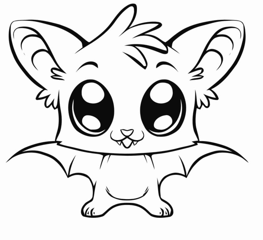 A baby bat Coloring Page