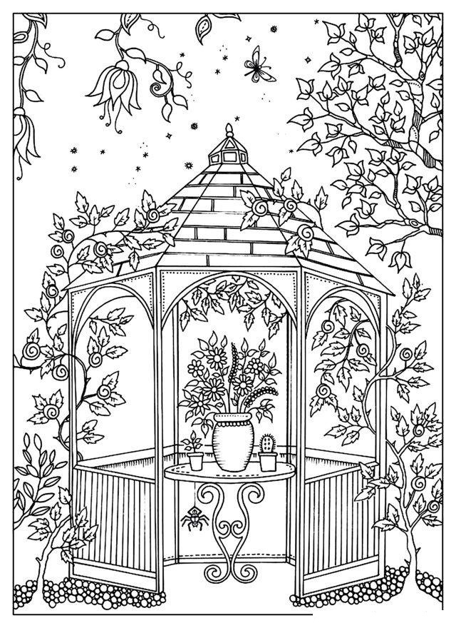 A Beautiful Garden Coloring Page