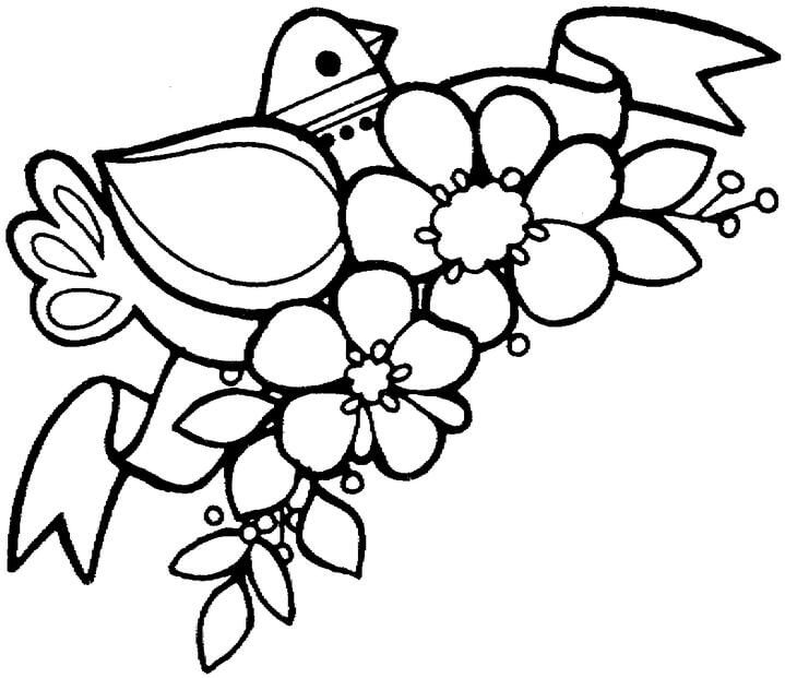 A Bird and Flowering Branch