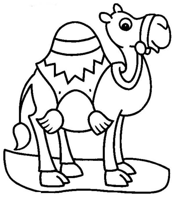 A camel Coloring Page